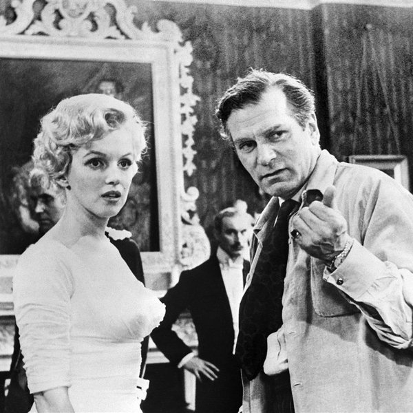 Marilyn Monroe en Laurence Olivier in 1956