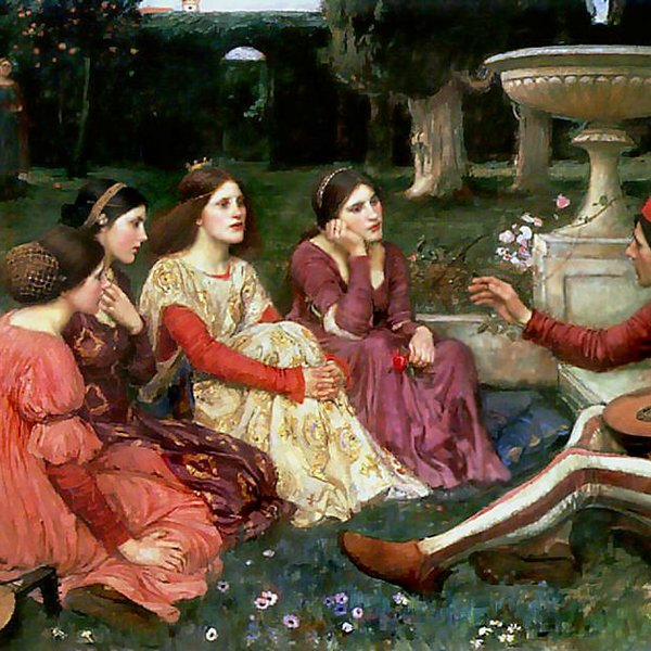 Een verhaal uit de Decamerone, John William Waterhouse (1916)