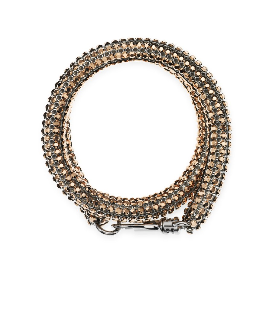 AS by Christopher Kane, Skinny Double Bolster armband, Rose Gold
