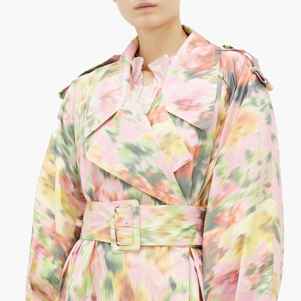 MSGM trench met bloemenprint (MatchesFashion)