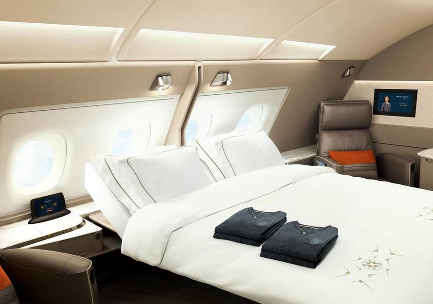 De dubbele Singapore Airlines Suite