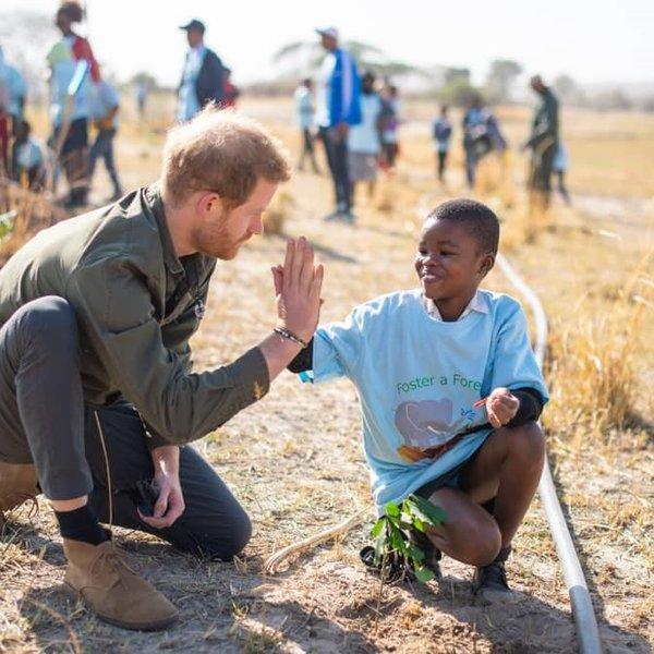 Prins Harry in Botswana