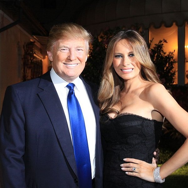 Donald en Melania in 2011, toen het nog leuk was in Palm Beach
