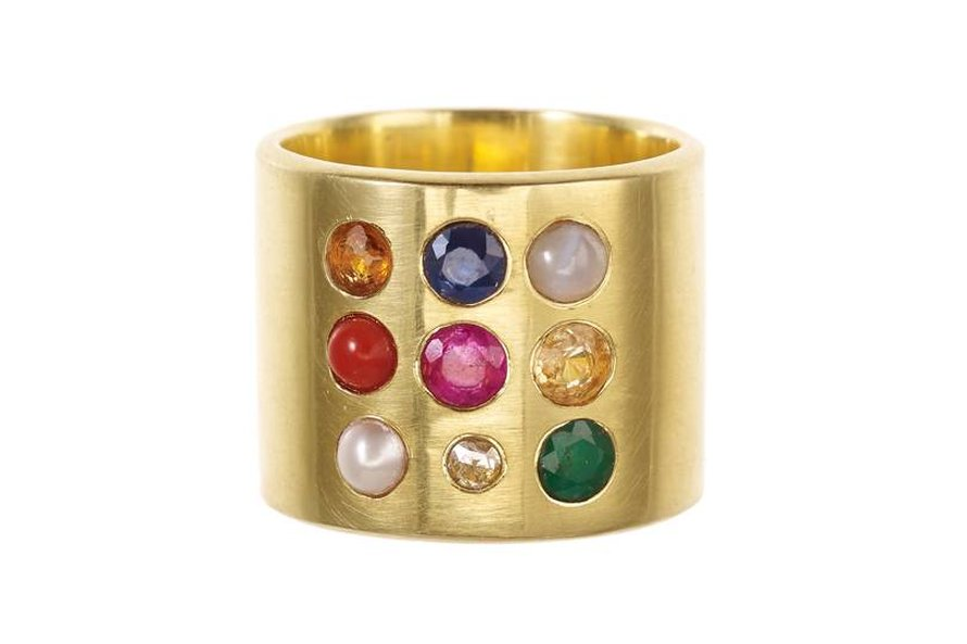 Mixed Navaratna ring van Pippa Small